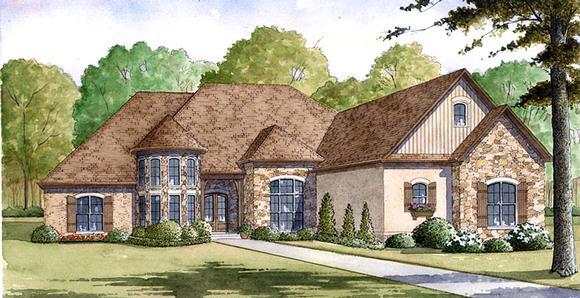 European House Plan 82401 with 4 Beds, 4 Baths, 4 Car Garage Elevation