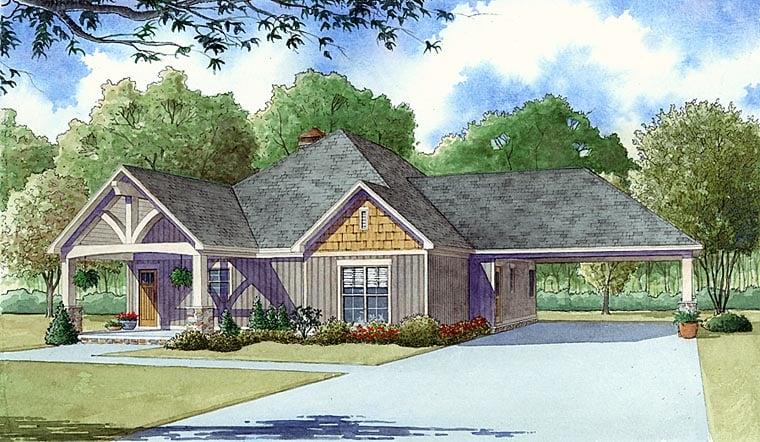 Craftsman Traditional House Plan 82403 Elevation