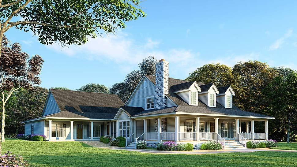 Country Southern House Plan 82417 Elevation