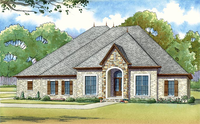European House Plan 82421 Elevation