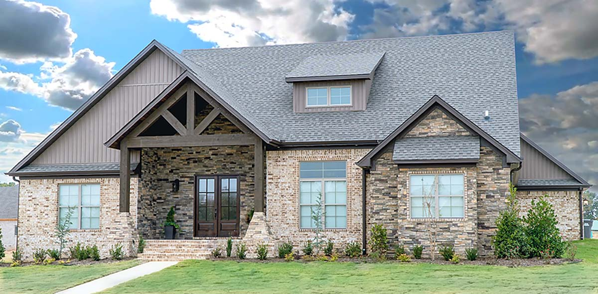 House Plan 82431 Craftsman Style With 2513 Sq Ft 5 Bed 2 Bath 2 Half Bath