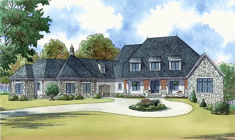 Country European French Country Southern House Plan 82444 Elevation