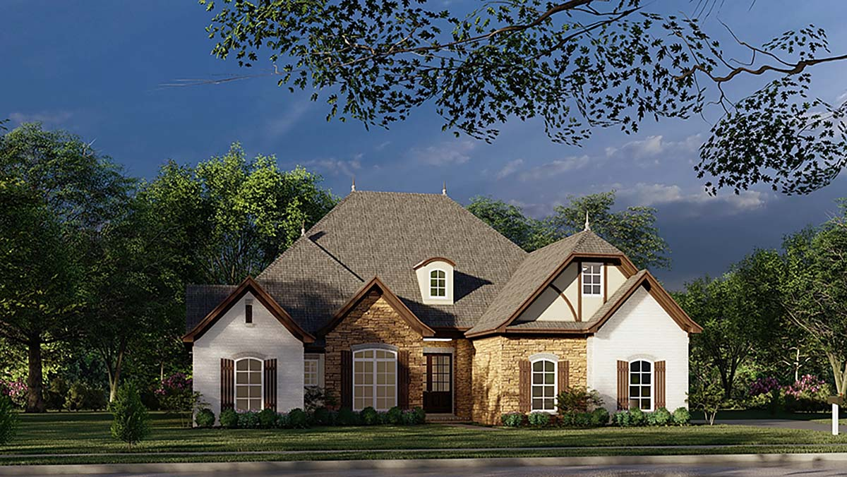 European French Country Tudor House Plan 82447 Elevation