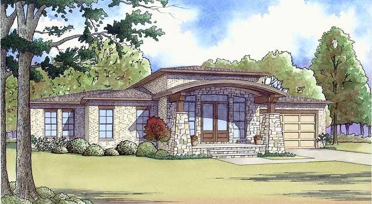 Contemporary Mediterranean Modern House Plan 82452 Elevation
