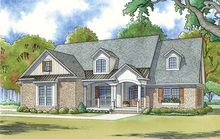 Bungalow Country Craftsman House Plan 82472 Elevation