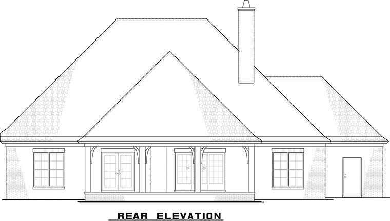 European French Country House Plan 82479 Rear Elevation