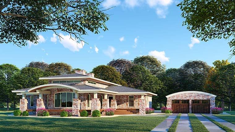Contemporary Mediterranean Modern House Plan 82480 Elevation
