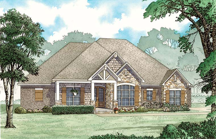 Craftsman , European , Southern , Traditional House Plan 82483 with 3 Beds, 3 Baths, 3 Car Garage Elevation