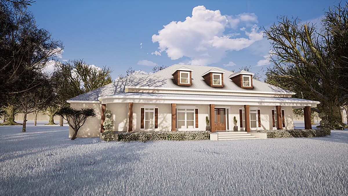 Country, Southern, Traditional House Plan 82487 with 3 Beds, 5 Baths, 3 Car Garage Elevation