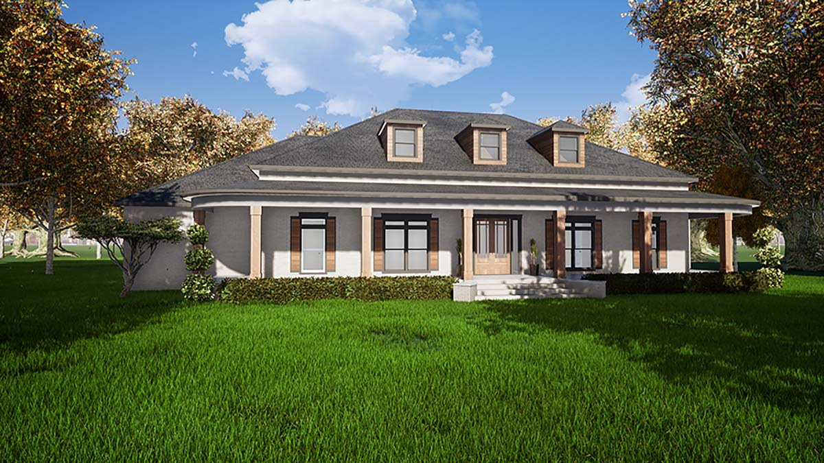 Country, Southern, Traditional House Plan 82487 with 3 Beds, 5 Baths, 3 Car Garage Picture 1
