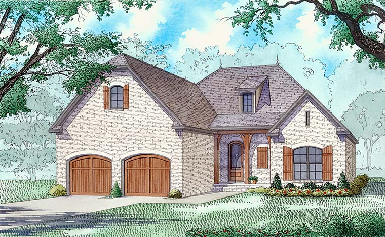 Country, Craftsman, European, French Country House Plan 82489 with 3 Beds, 3 Baths, 2 Car Garage Elevation