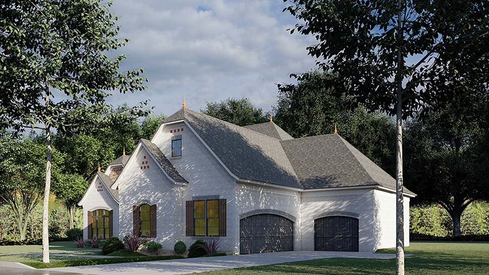Bungalow, Craftsman, French Country House Plan 82491 with 3 Beds, 4 Baths, 3 Car Garage Picture 1
