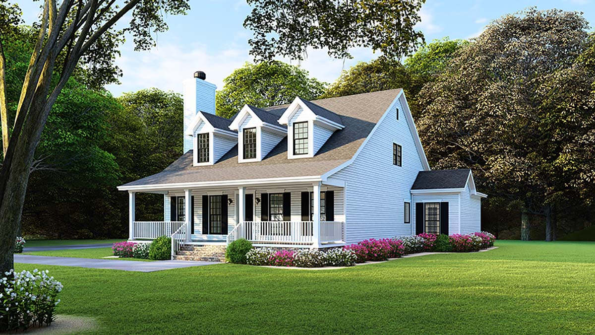 Country, Farmhouse, Southern House Plan 82500 with 4 Beds, 2 Baths, 2 Car Garage Picture 1