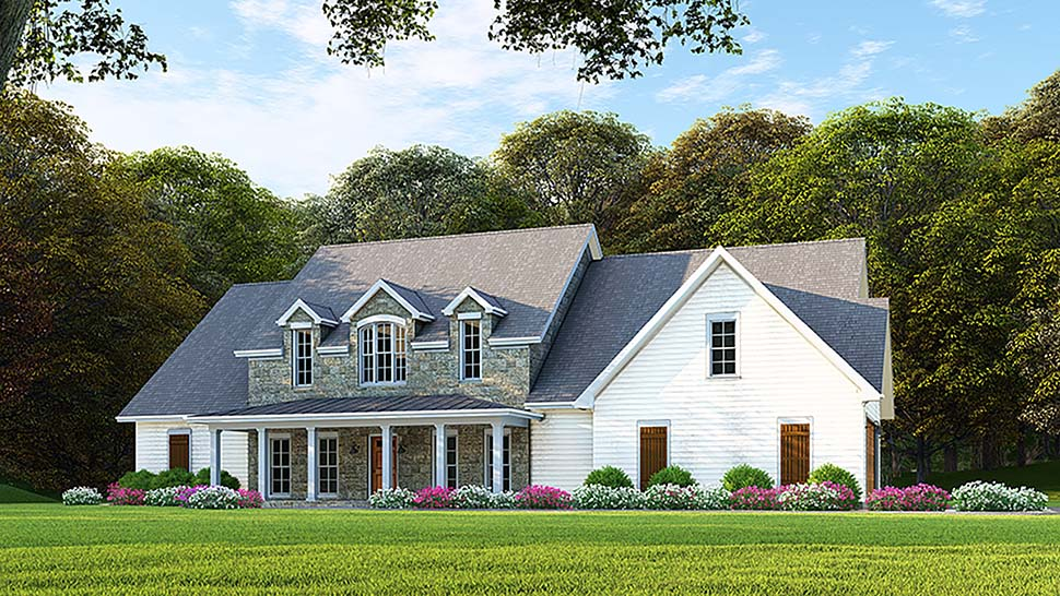 Southern Style House Plan 82503 with 6 Bed, 4 Bath, 2 Car Garage
