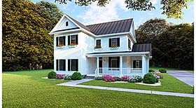 Country , Farmhouse , Southern House Plan 82505 with 4 Beds, 3 Baths, 2 Car Garage Elevation