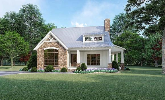 Bungalow, Cottage, Country, Craftsman House Plan 82519 with 3 Beds, 3 Baths Elevation