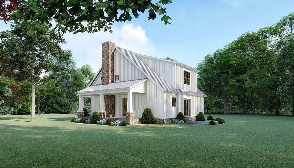 Bungalow, Cottage, Country, Craftsman House Plan 82519 with 3 Beds, 3 Baths Picture 1