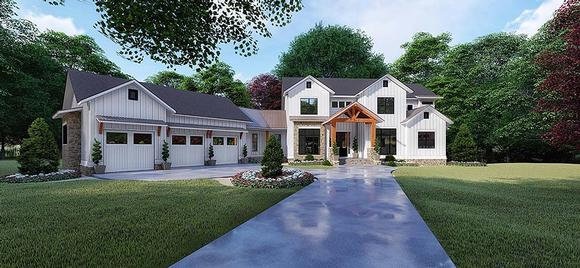 Country, Craftsman, Farmhouse House Plan 82520 with 6 Beds, 6 Baths, 3 Car Garage Elevation