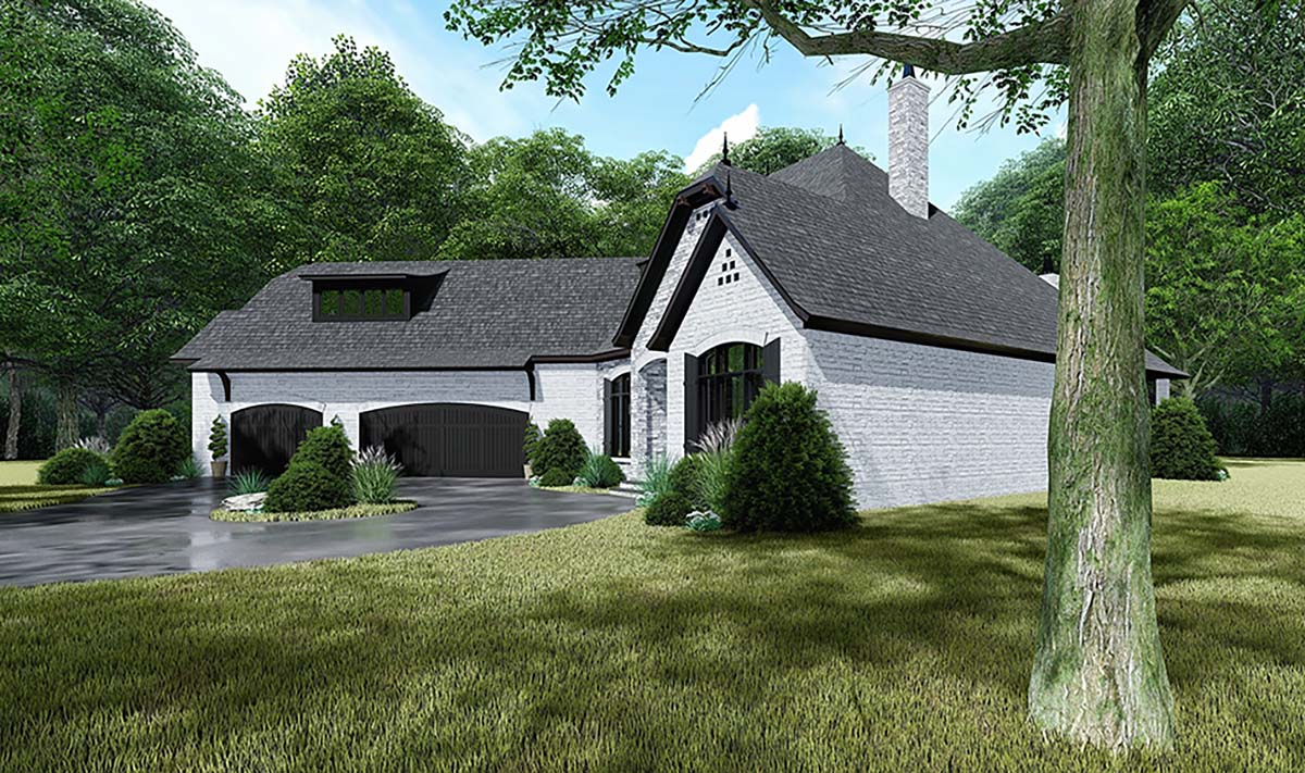Bungalow, Craftsman, European, French Country House Plan 82534 with 4 Beds, 4 Baths, 3 Car Garage Picture 1