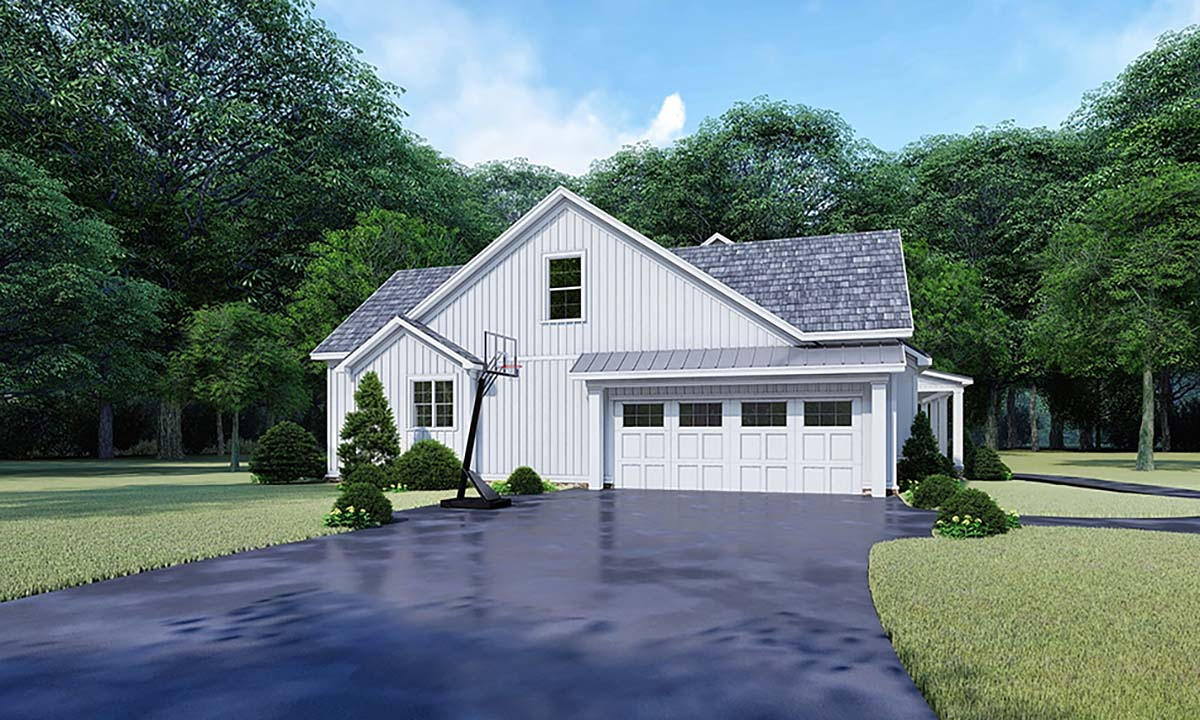 Bungalow, Country, Craftsman, Farmhouse House Plan 82542 with 3 Beds, 3 Baths, 2 Car Garage Picture 2