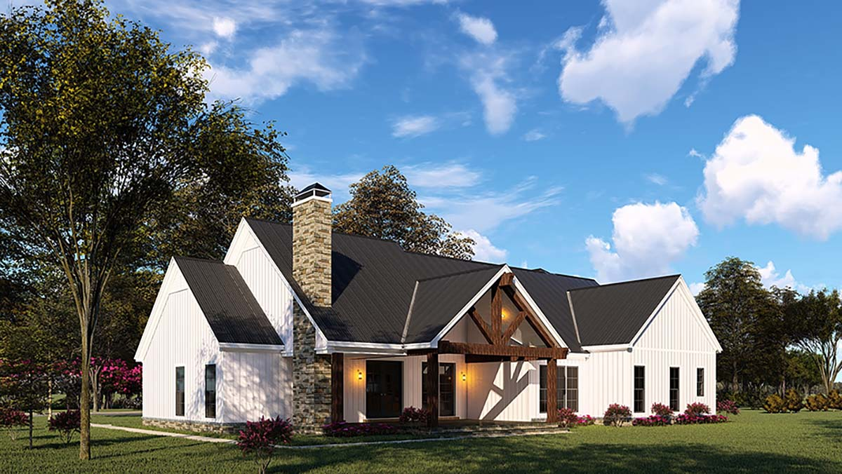 Country, Craftsman, Farmhouse House Plan 82545 with 3 Beds, 4 Baths, 2 Car Garage Picture 1