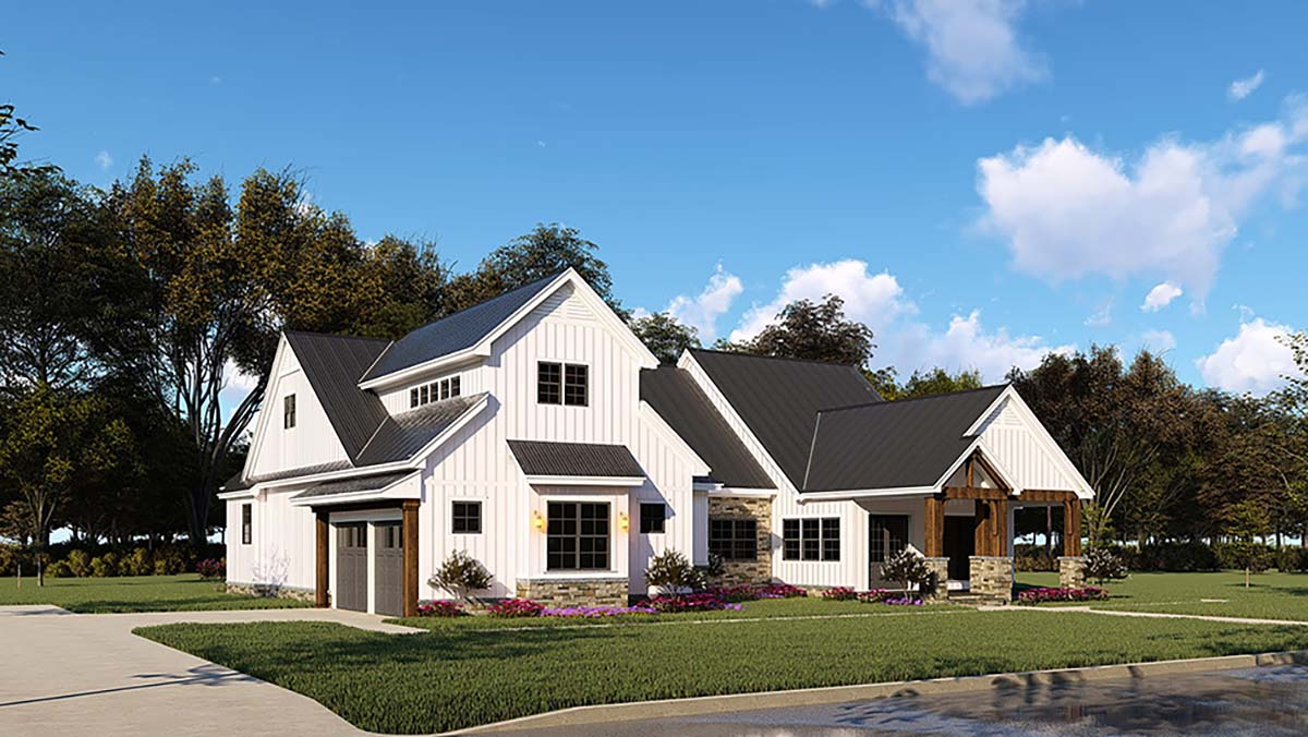 Country, Craftsman, Farmhouse House Plan 82545 with 3 Beds, 4 Baths, 2 Car Garage Picture 2