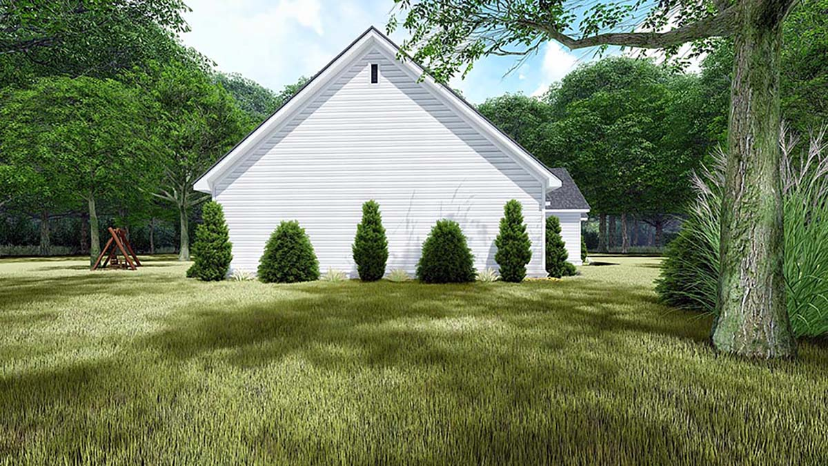 Bungalow, Craftsman, Farmhouse, Traditional House Plan 82550 with 4 Beds, 3 Baths, 3 Car Garage Picture 2