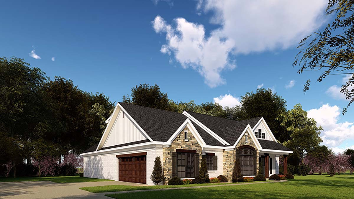 Country, Farmhouse, One-Story, Ranch, Traditional House Plan 82558 with 3 Beds, 3 Baths, 2 Car Garage Picture 2