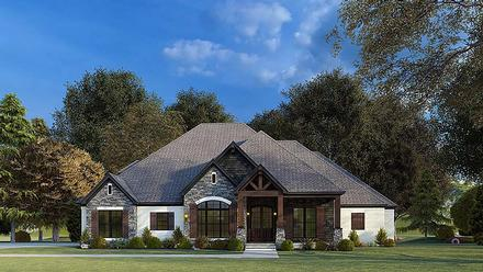 Bungalow, Craftsman, French Country, Traditional House Plan 82575 with 4 Beds, 4 Baths, 2 Car Garage