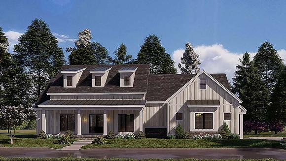 Bungalow, Craftsman, Farmhouse House Plan 82577 with 4 Beds, 3 Baths, 2 Car Garage Elevation