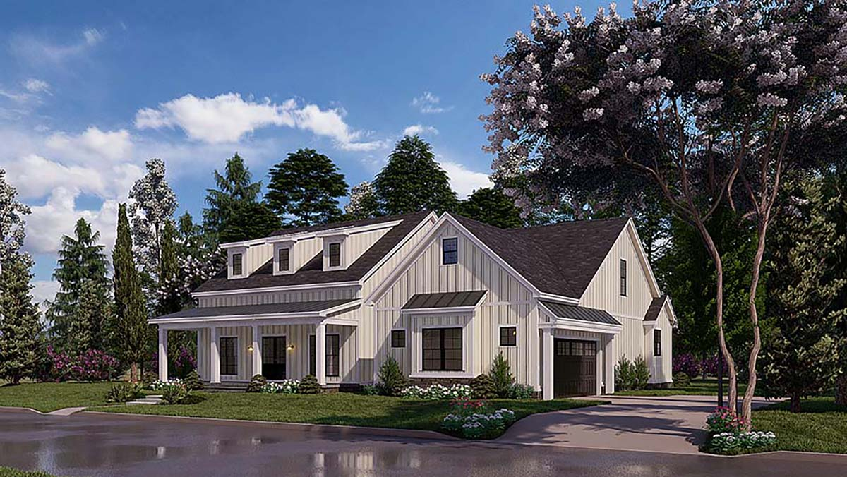 Bungalow, Craftsman, Farmhouse House Plan 82577 with 4 Beds, 3 Baths, 2 Car Garage Picture 1