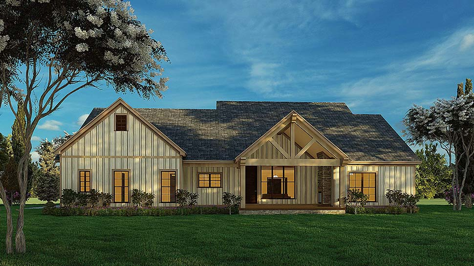 Bungalow, Craftsman, Farmhouse House Plan 82577 with 4 Beds, 3 Baths, 2 Car Garage Picture 6