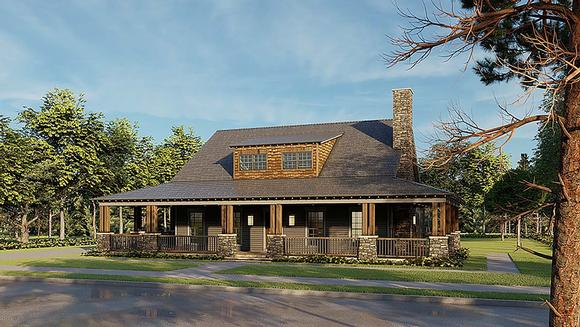 Bungalow, Country, Craftsman, Farmhouse House Plan 82578 with 2 Beds, 3 Baths, 4 Car Garage Elevation
