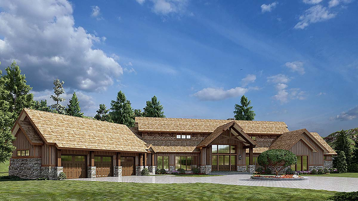Country, Craftsman House Plan 82582 with 4 Beds, 6 Baths, 3 Car Garage Picture 1