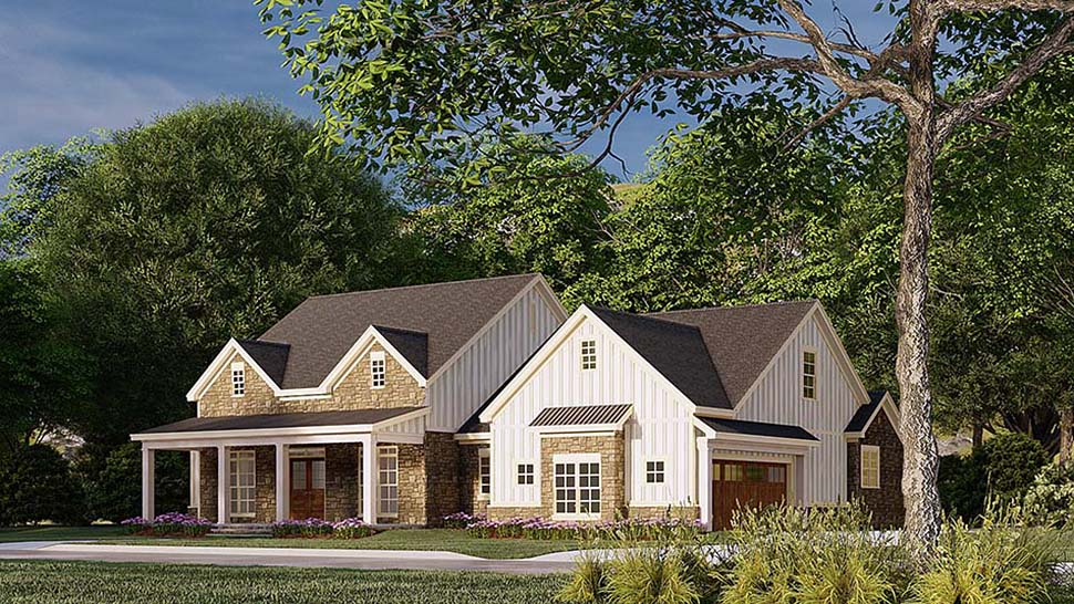 Bungalow, Country, Craftsman, Farmhouse House Plan 82586 with 3 Beds, 4 Baths, 2 Car Garage Picture 1