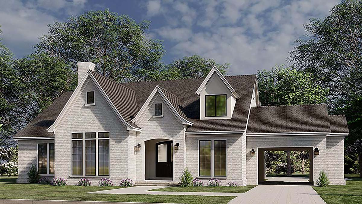 European, French Country House Plan 82587 with 3 Beds, 4 Baths, 2 Car Garage Elevation