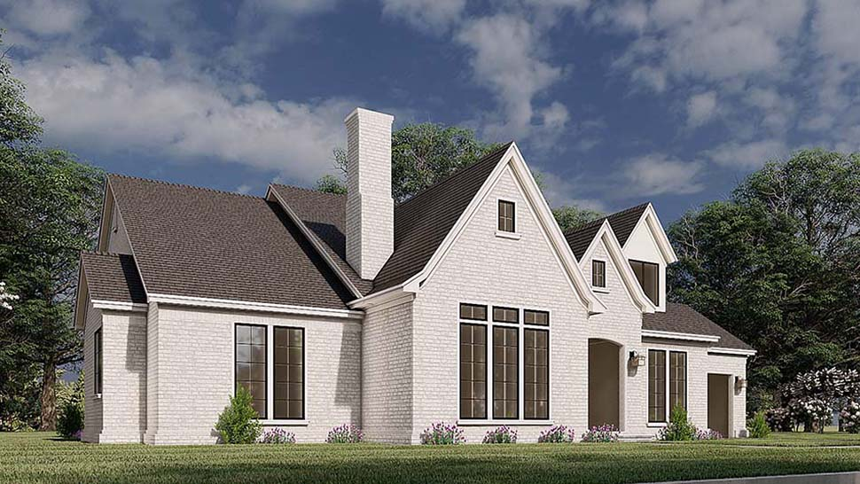 European, French Country House Plan 82587 with 3 Beds, 4 Baths, 2 Car Garage Picture 2