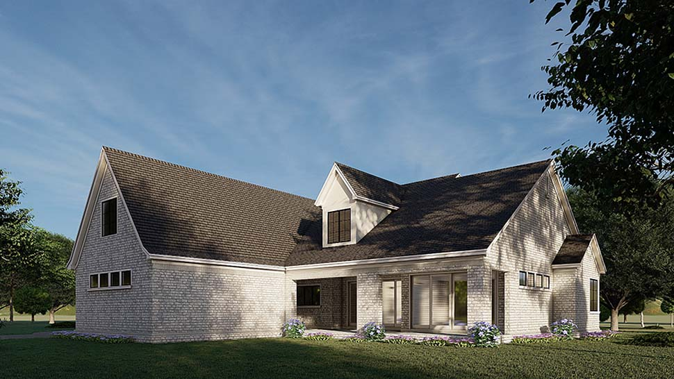 Contemporary, European, French Country House Plan 82589 with 4 Beds, 5 Baths, 2 Car Garage Picture 2