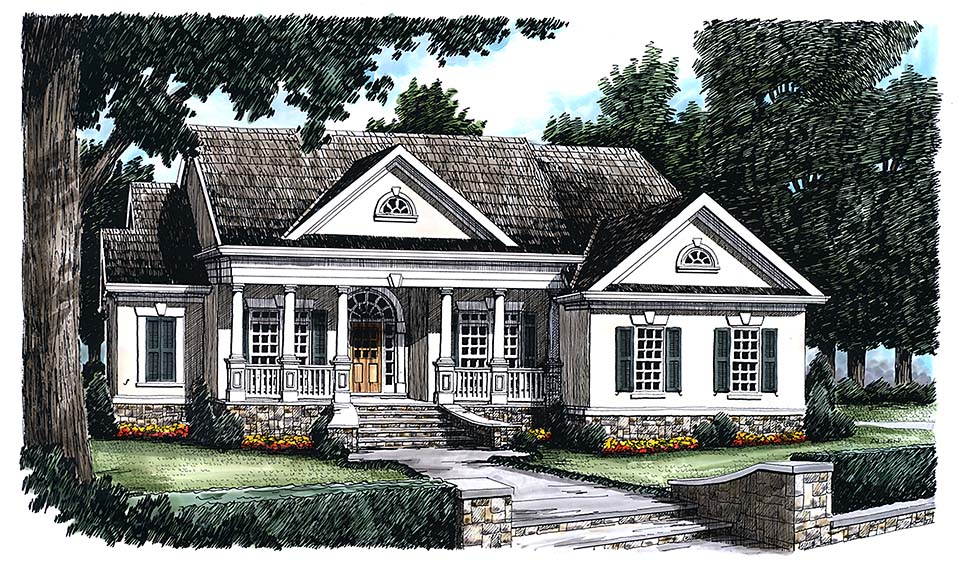 Victorian Style House Plan 83008 with 3 Bed, 2 Bath, 2 Car Garage on single story mediterranean home plans, custom southern house plans, single story house floor plan, single story contemporary home plans, single story duplex home plans, single story small home plans, single story garage plans, single story cape cod, single story southern homes, golf course southern house plans, single story log cabin plans,