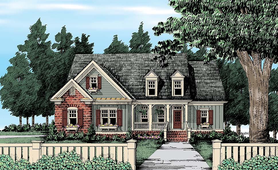 Cape Cod, Country, Traditional House Plan 83079 with 4 Beds, 3 Baths, 2 Car Garage Elevation