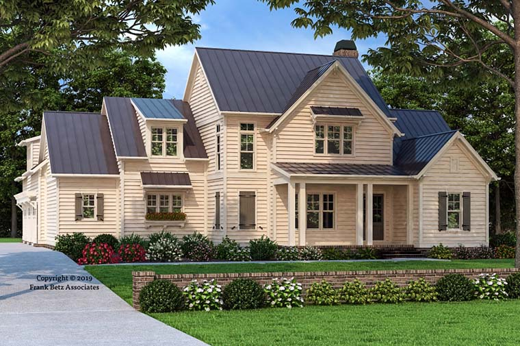 Country, Farmhouse, Traditional House Plan 83108 with 5 Beds, 5 Baths, 3 Car Garage Elevation