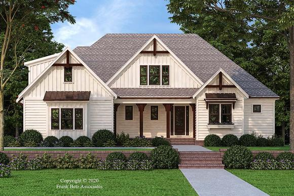 Country, Craftsman, Farmhouse, Southern House Plan 83117 with 4 Beds, 4 Baths, 2 Car Garage Elevation