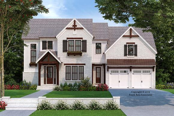 Craftsman, Traditional House Plan 83118 with 5 Beds, 3 Baths, 2 Car Garage Elevation