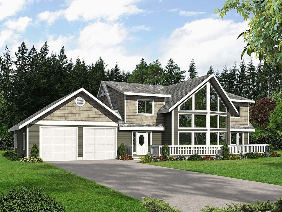 Cabin, Craftsman House Plan 85109 with 4 Beds, 3 Baths, 2 Car Garage Elevation