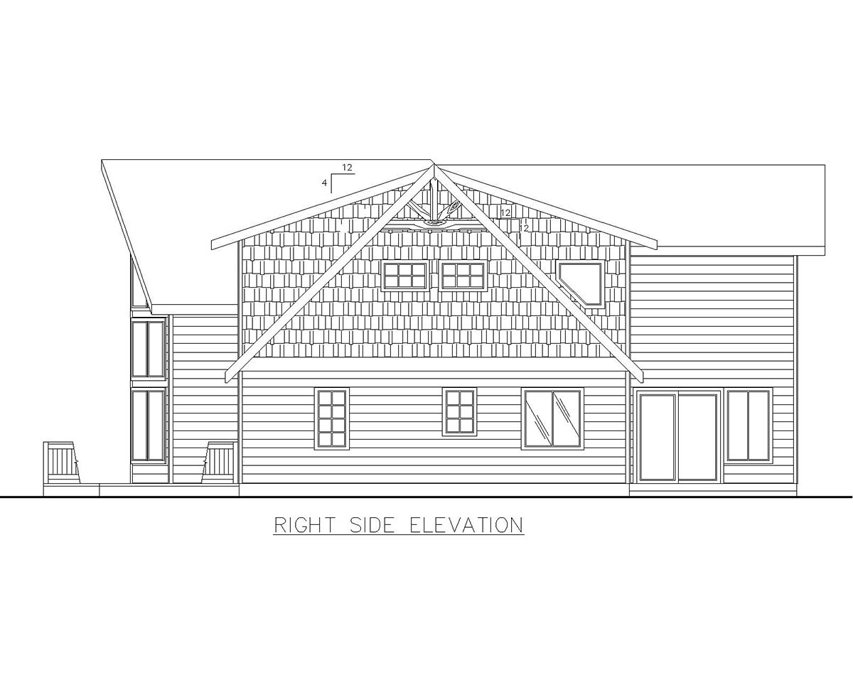 Cabin, Craftsman House Plan 85109 with 4 Beds, 3 Baths, 2 Car Garage Picture 1