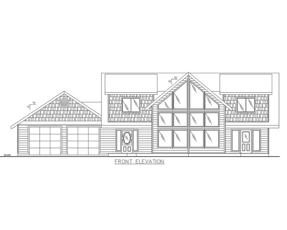 Cabin, Craftsman House Plan 85109 with 4 Beds, 3 Baths, 2 Car Garage Picture 2