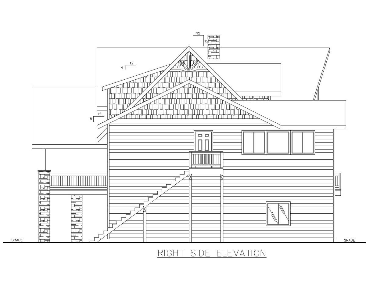 Cabin, Log House Plan 85110 with 4 Beds, 5 Baths, 3 Car Garage Picture 1