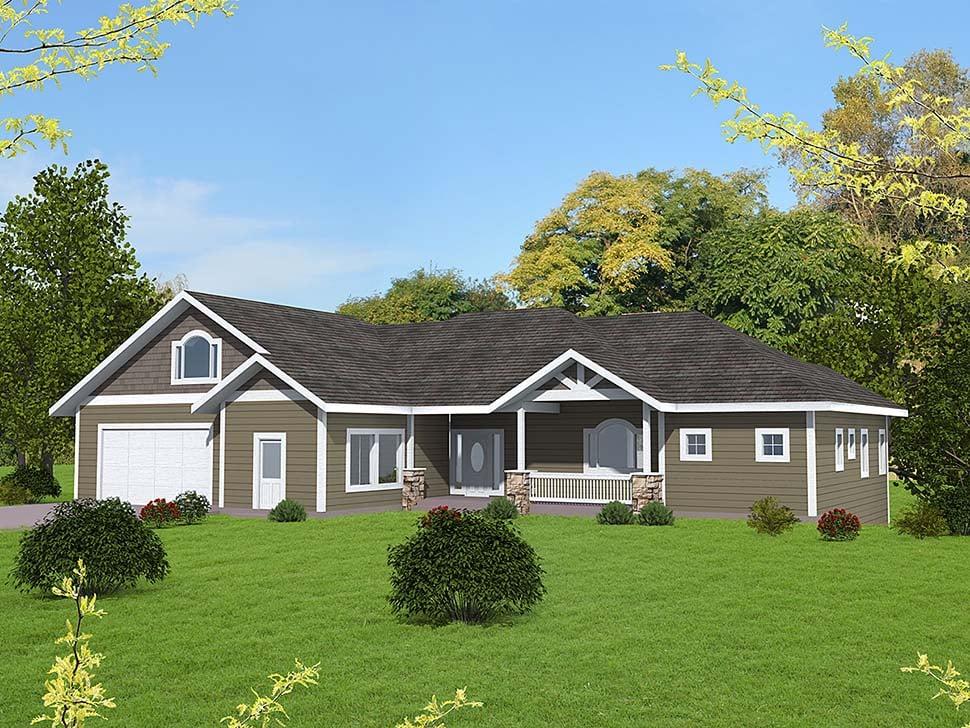 Craftsman House Plan 85115 with 5 Beds, 4 Baths, 1 Car Garage Elevation