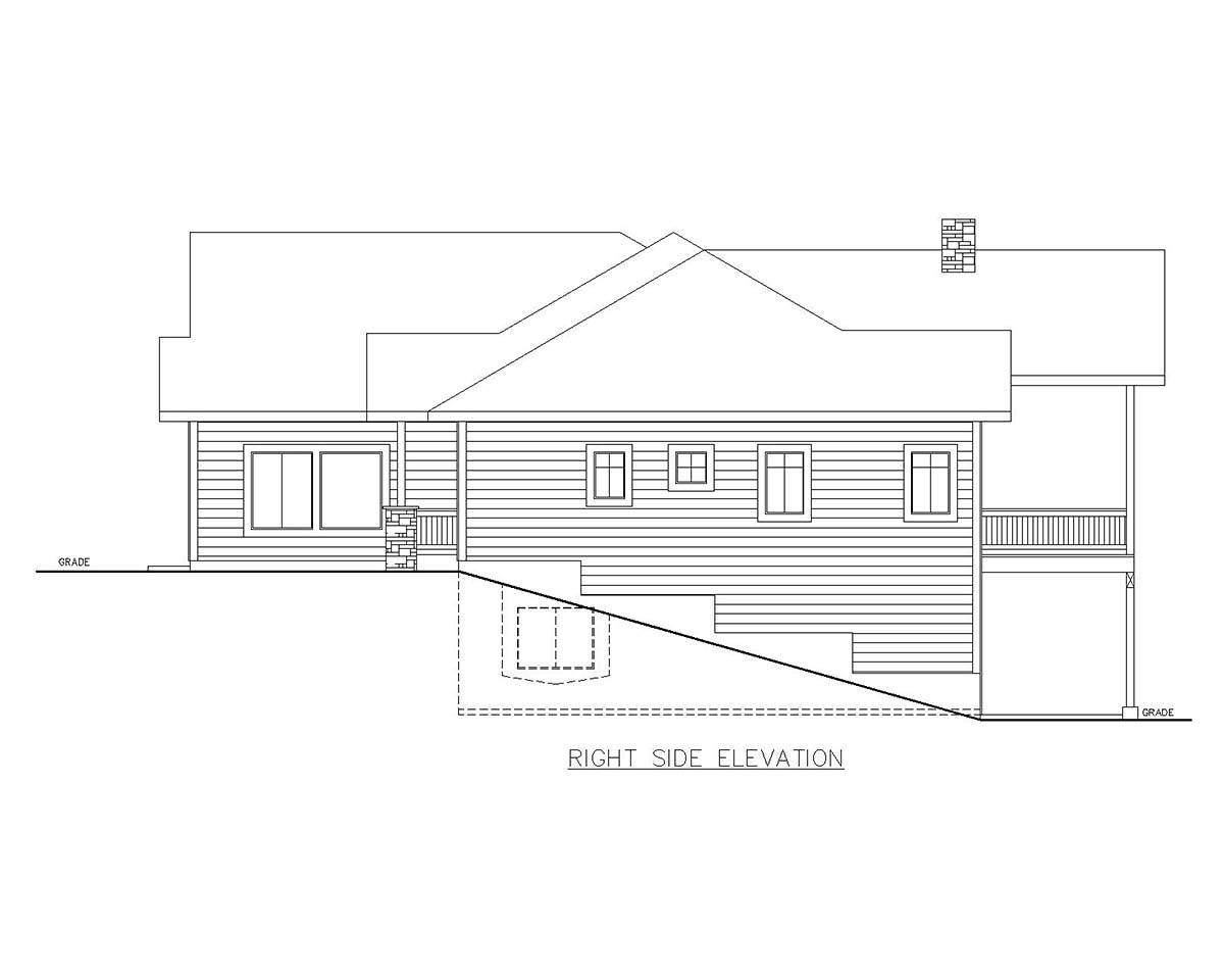 Craftsman House Plan 85115 with 5 Beds, 4 Baths, 1 Car Garage Picture 1