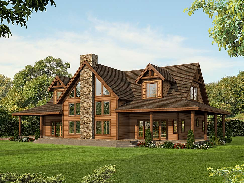 Cape Cod, Country House Plan 85135 with 3 Beds, 3 Baths Elevation